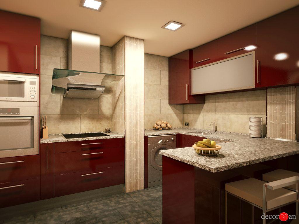 Diseño de interiores en 3d de vivienda en madrid