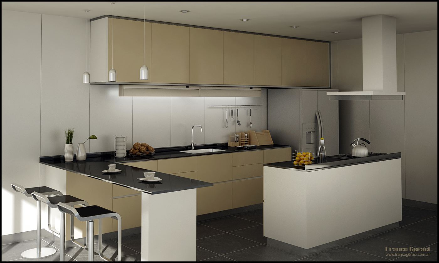 3d kitchen for Simulador de cocinas 3d