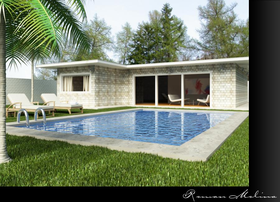 Casa con piscina for Piscinas con