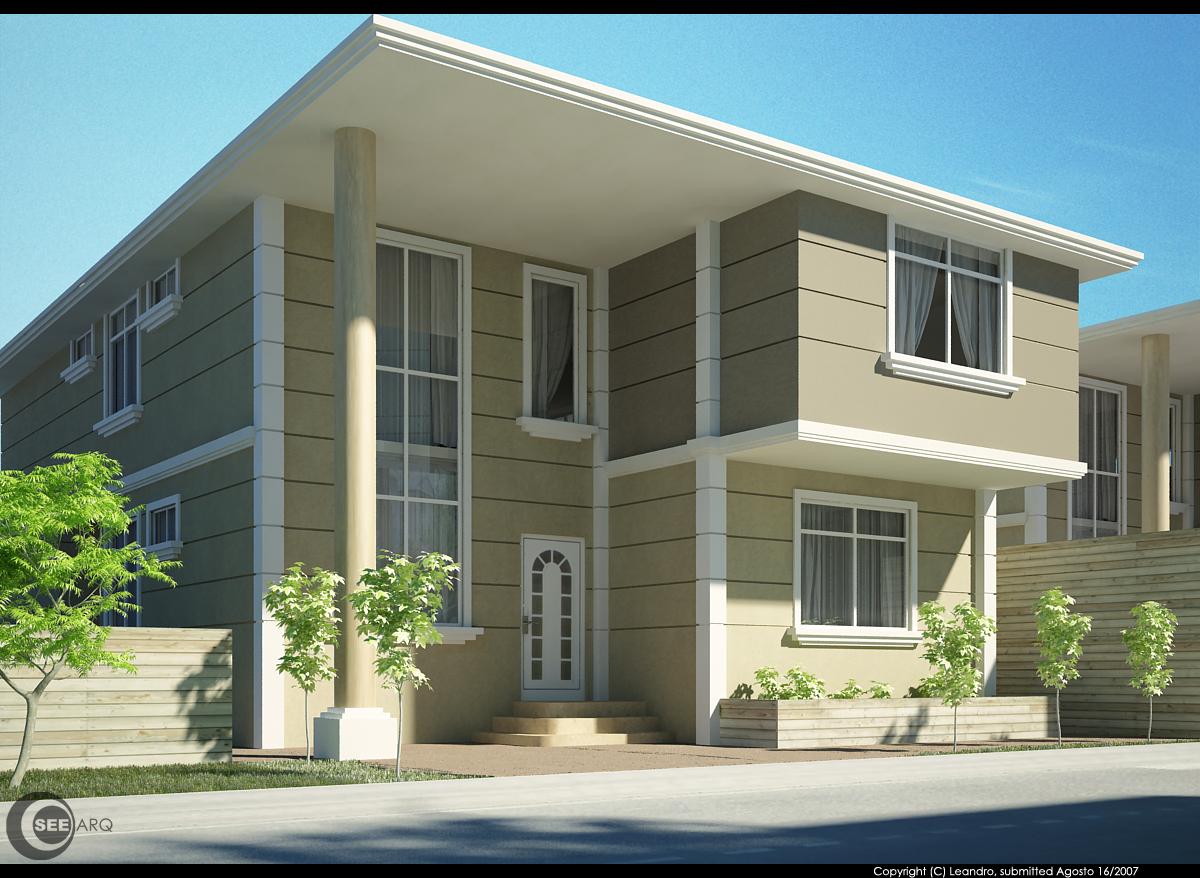 Exterior de villa modelo for Mar villa modelo