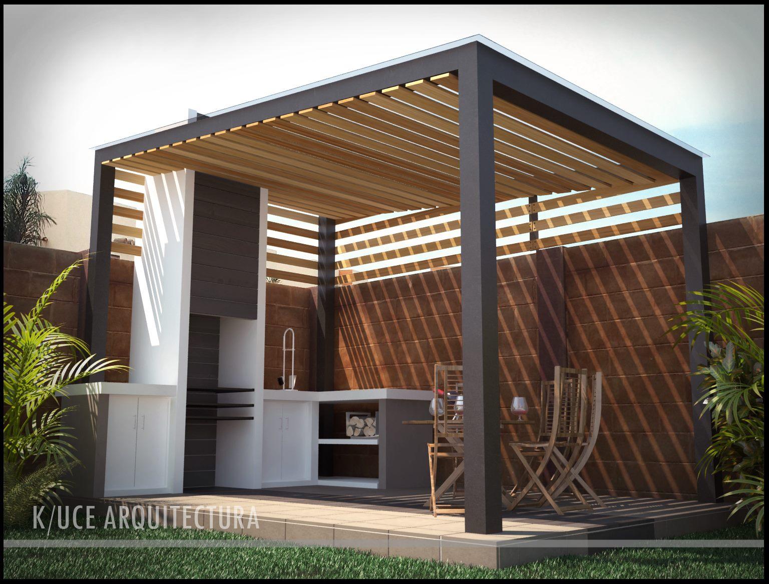 Terraza con asador for Design office y z