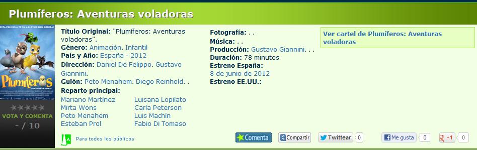 Plumiferos estreno Febrero 18  2010    -plumiferos.jpg