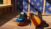 Unas zapatillas de deporte que he modelado para practicar con Blender -munichmyway03.jpg