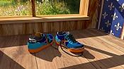 Unas zapatillas de deporte que he modelado para practicar con Blender -munichmyway04.jpg
