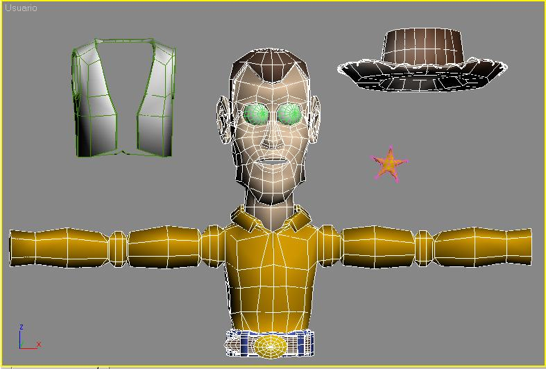 Toy Story_ El Personaje WOODY  Wire_vaquero 01_body Sup
