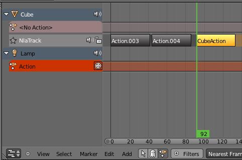 Es posible que un unico archivo en blender tenga multiples animaciones -dope3.jpg