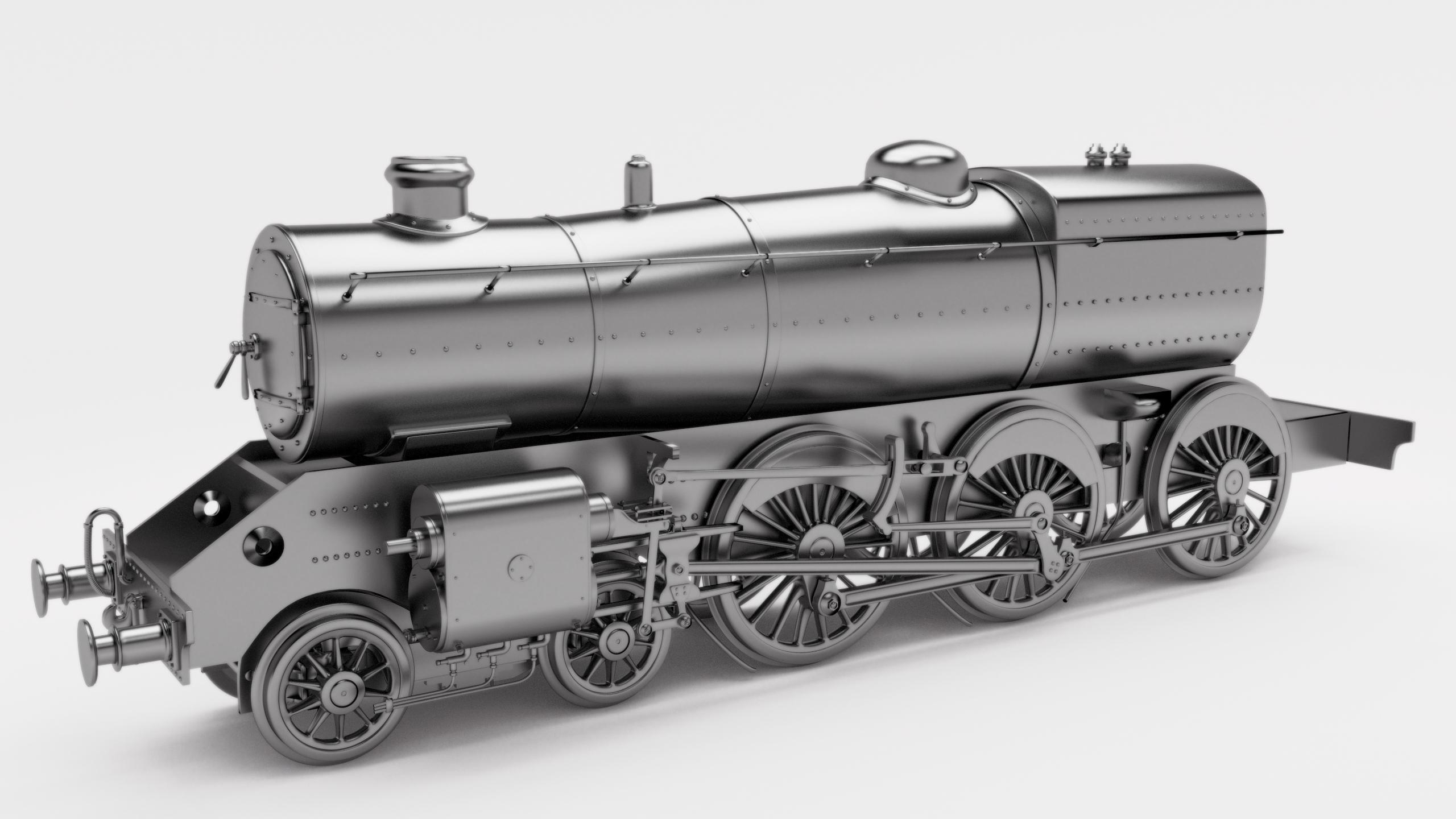 Blender] Locomotora a vapor clase 5 4-6-0