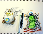 Dibujos rapidos , Bocetos  y apuntes  en papel -blocsketch.jpg