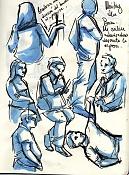 Dibujos rapidos , Bocetos  y apuntes  en papel -dm-comida014.jpg