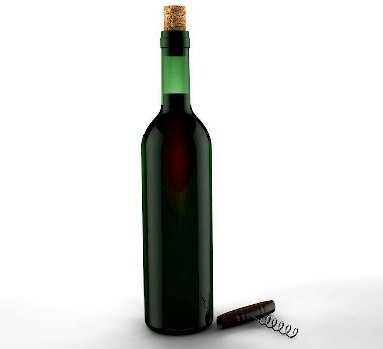Cinema 4d botella de vino con luz de contra ayuda con la - Botelleros de vino ...
