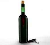 Botella de vino Con luz de contra ayuda con la transparencia del vino  CINEMa 4D-botella-_sacacorchos.png