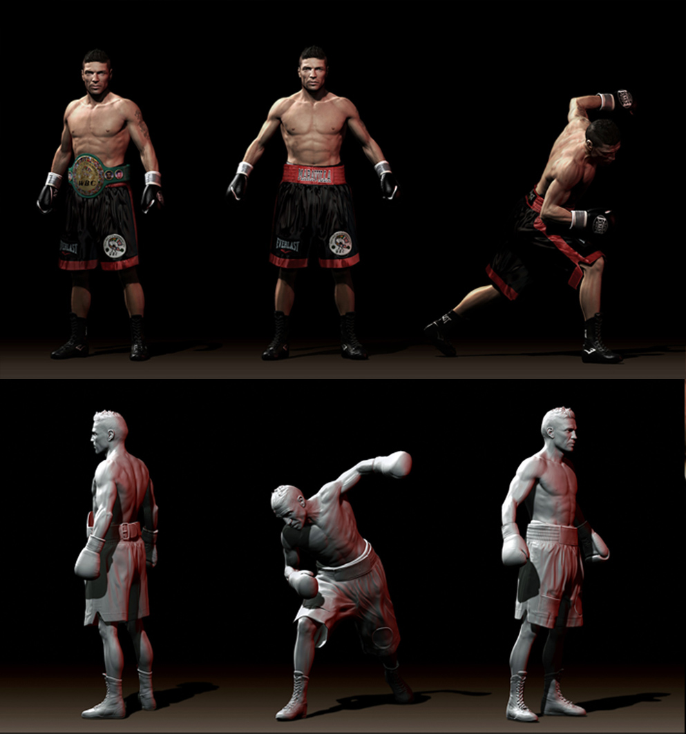 ZBrush] Boxeador: sergio maravilla martinez