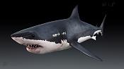 Great white shark and the seal - WIP-whiteshark_shaded_persp.jpg