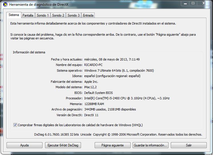 Mejor pc mac para uso de realFlow programas de simulacion de partículas