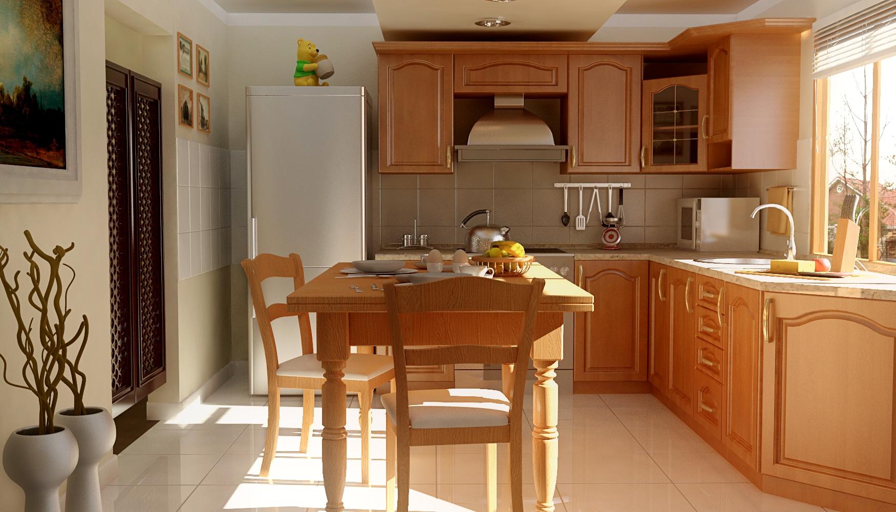 Cocina con puerta vaiven - Puertas de cocina ...