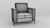 Armchair de cuero modelado en Blender y renderizado con maxwell Render-wired.png