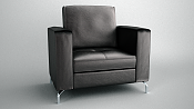 armchair de cuero modelado en Blender y renderizado con Maxwell Render-0002.png