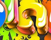 Hola  ,  ayuda por favor como  puedo hacer este tipo de biselado en   TEXTO  3D  -letras.jpg