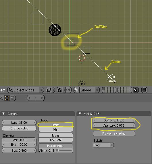 YafrayDof: Como conseguir un efecto borroso con la opcion Dof -dof01.jpg