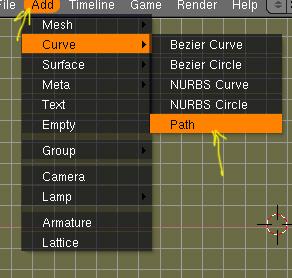 Camara animada: Mover la camara mediante una curva Path -path01.jpg