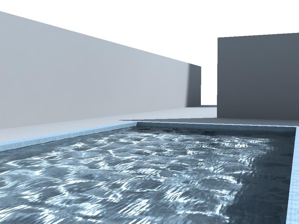Causticas en piscina con vray for Piscina 3d