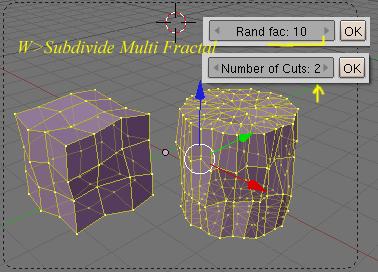Opciones de subdivision de los objetos en modo edicion con la tecla W Subdivide-w05.jpg