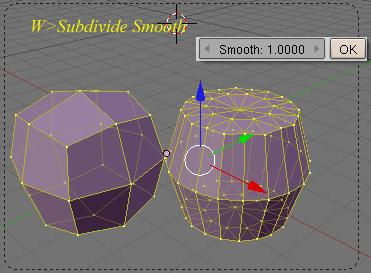 Opciones de subdivision de los objetos en modo edicion con la tecla W Subdivide-w06.jpg