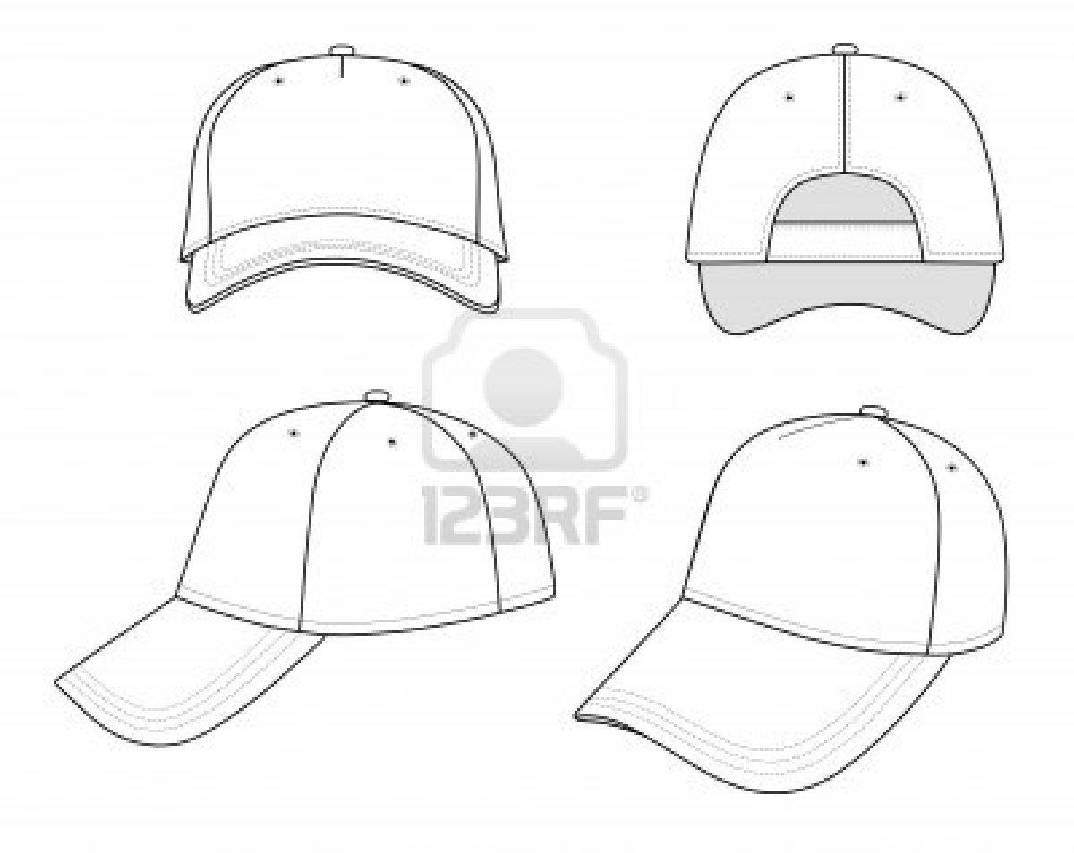 Pin Baseball Hat Template on Pinterest