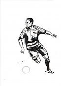 Dibujos rapidos , Bocetos  y apuntes  en papel -jugador01.jpg