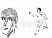Dibujos rapidos , Bocetos  y apuntes  en papel -caracorre2.jpg