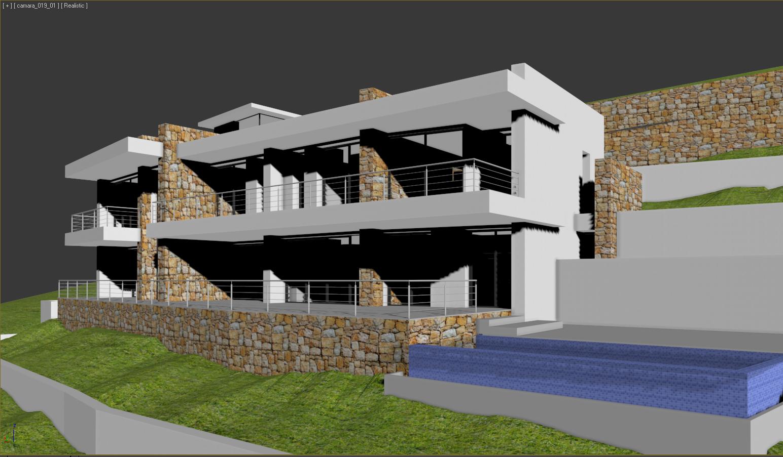 Casa moderna que se empieza a construir - Construir casas en 3d ...