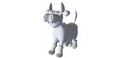 Vaca cartoon-wire-vaca.png