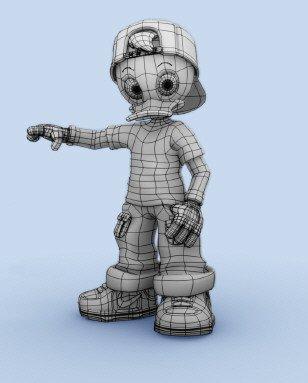 Modelando al sobrino del pato Donald-creando-pato-adolescente-2.jpg
