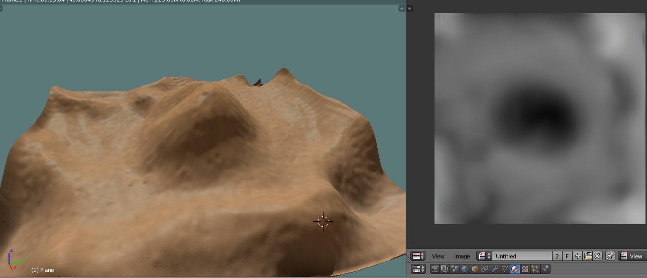 MDT, Modelto Digital de Terreno en Blender-displace2.jpg