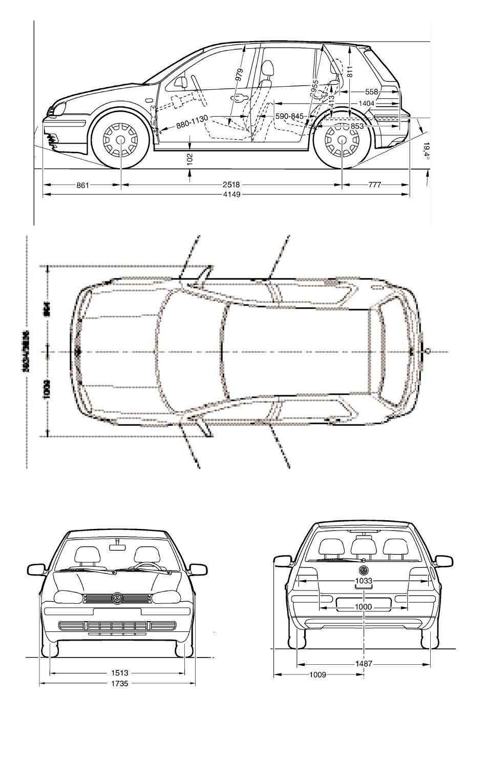 Blueprint volkswagen golf 4 volkswagen golf 4 vwgolf4g malvernweather Image collections