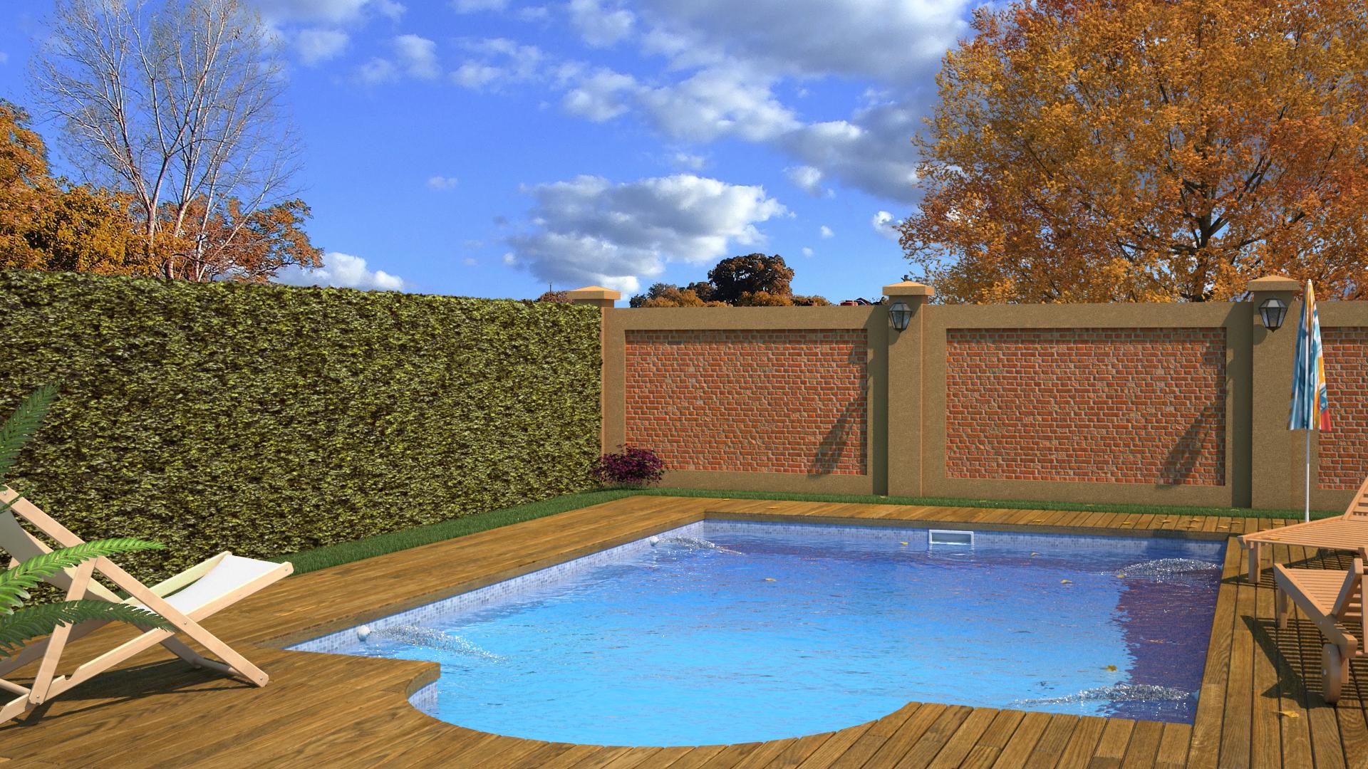 Exterior patio con pileta for Fotos de patios con piletas