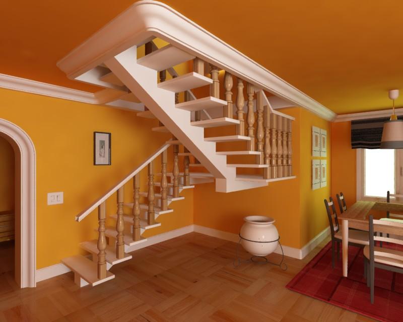 Mi primera escalera for Modelos de escaleras de madera para interiores