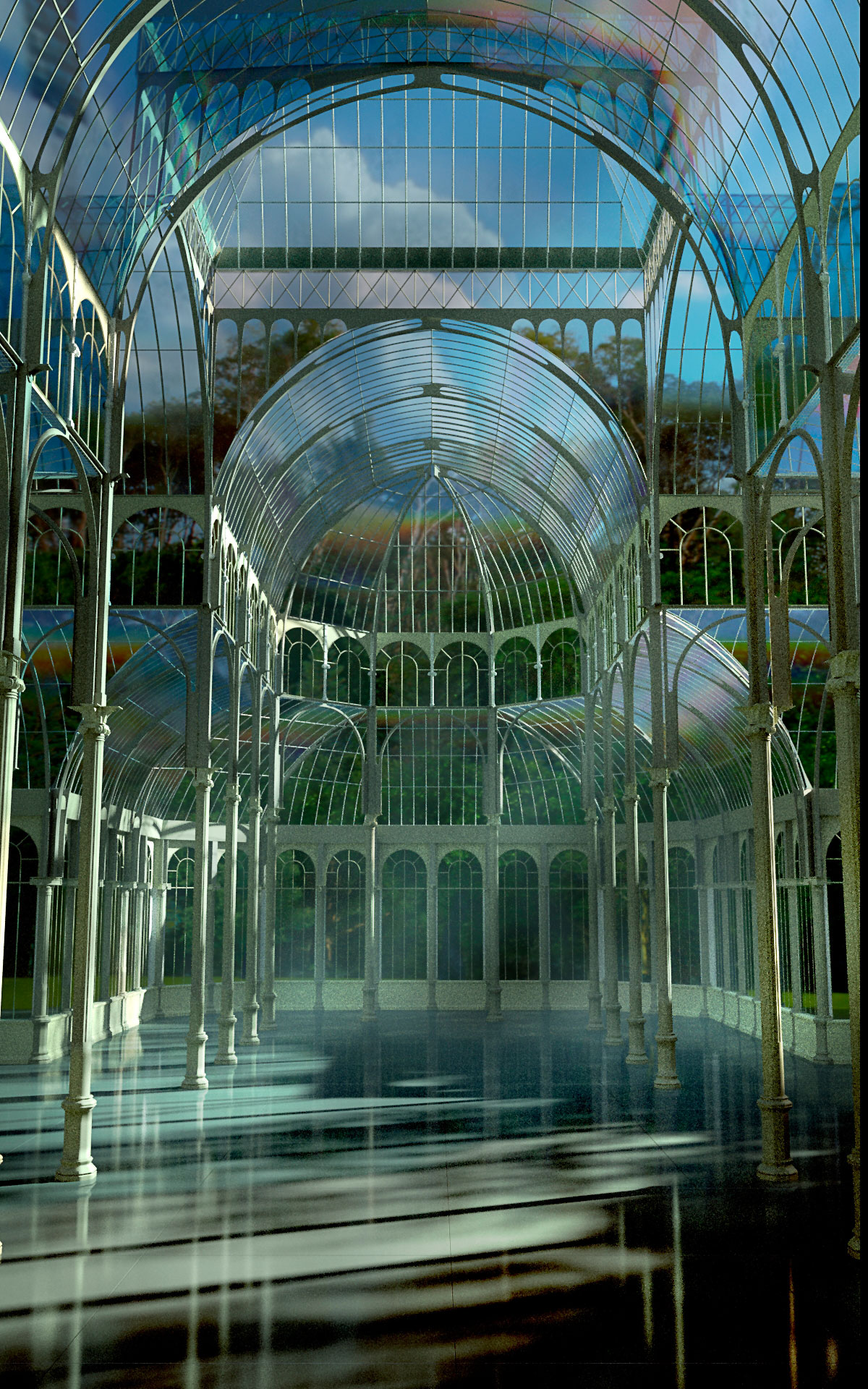 Blender El Palacio De Cristal Parque Del Retiro Madrid