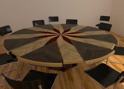 3ds Max] Mesa redonda de madera extensible