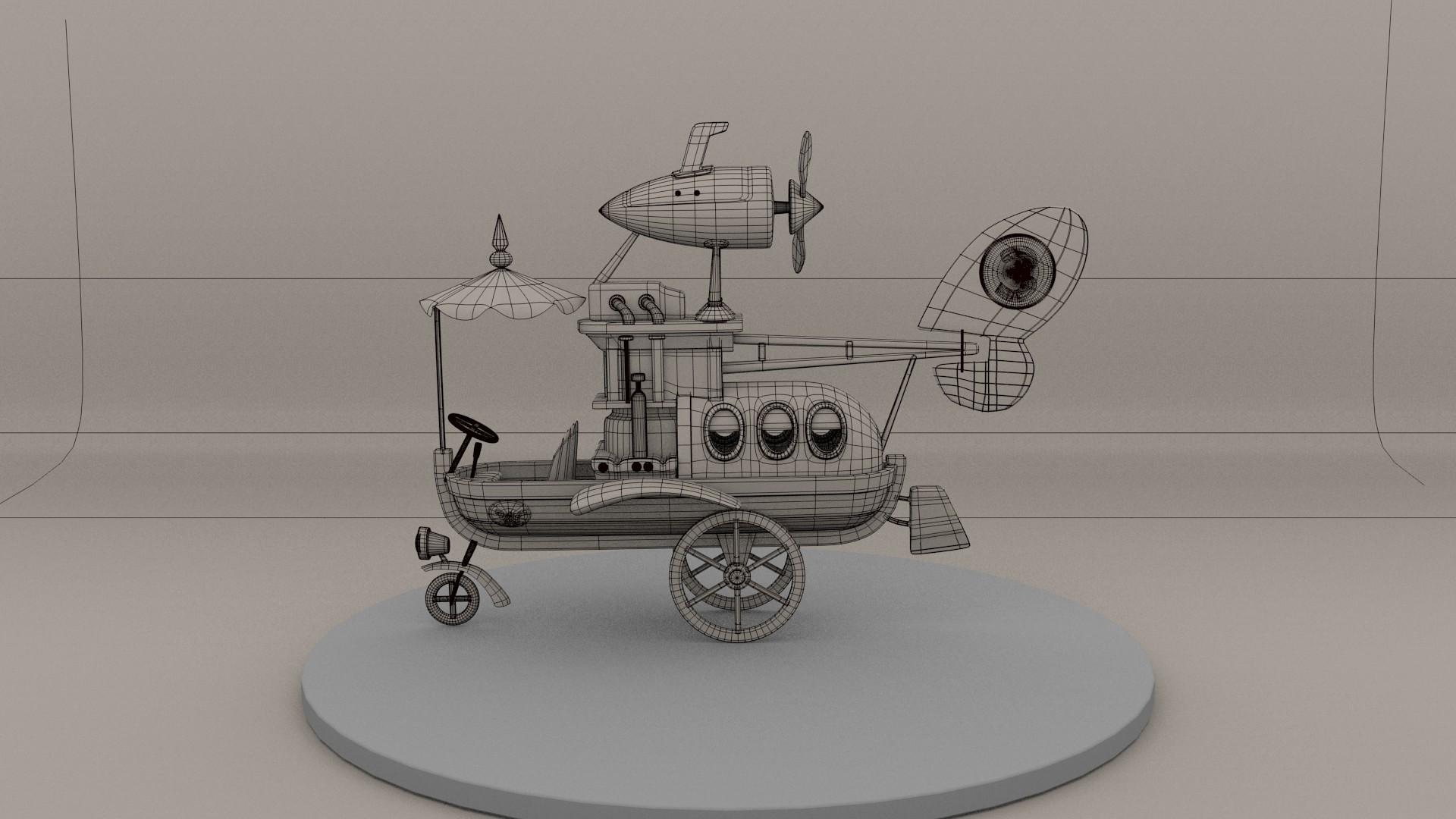 Los autos locos wacky races soliman-03-wire_el_auto_convertible.jpg