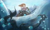 Trabajo finalizado: guerrero contra el kraken realizado por en Photoshop-finalizado.jpg