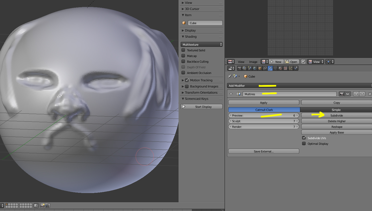 Malla limpia a la hora de esculpir en Blender.-multiresolution.jpg