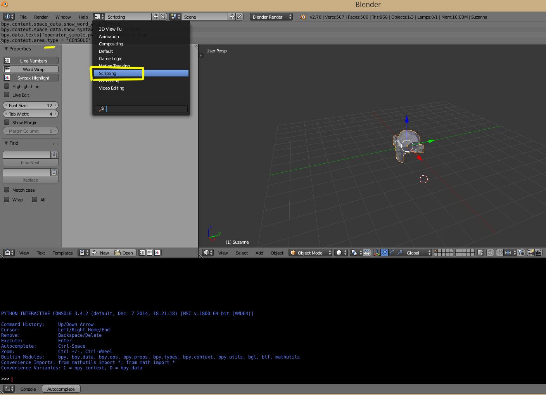 Scriptlinks de Blender 2.49 en Blender 2.75?-scripting.jpg