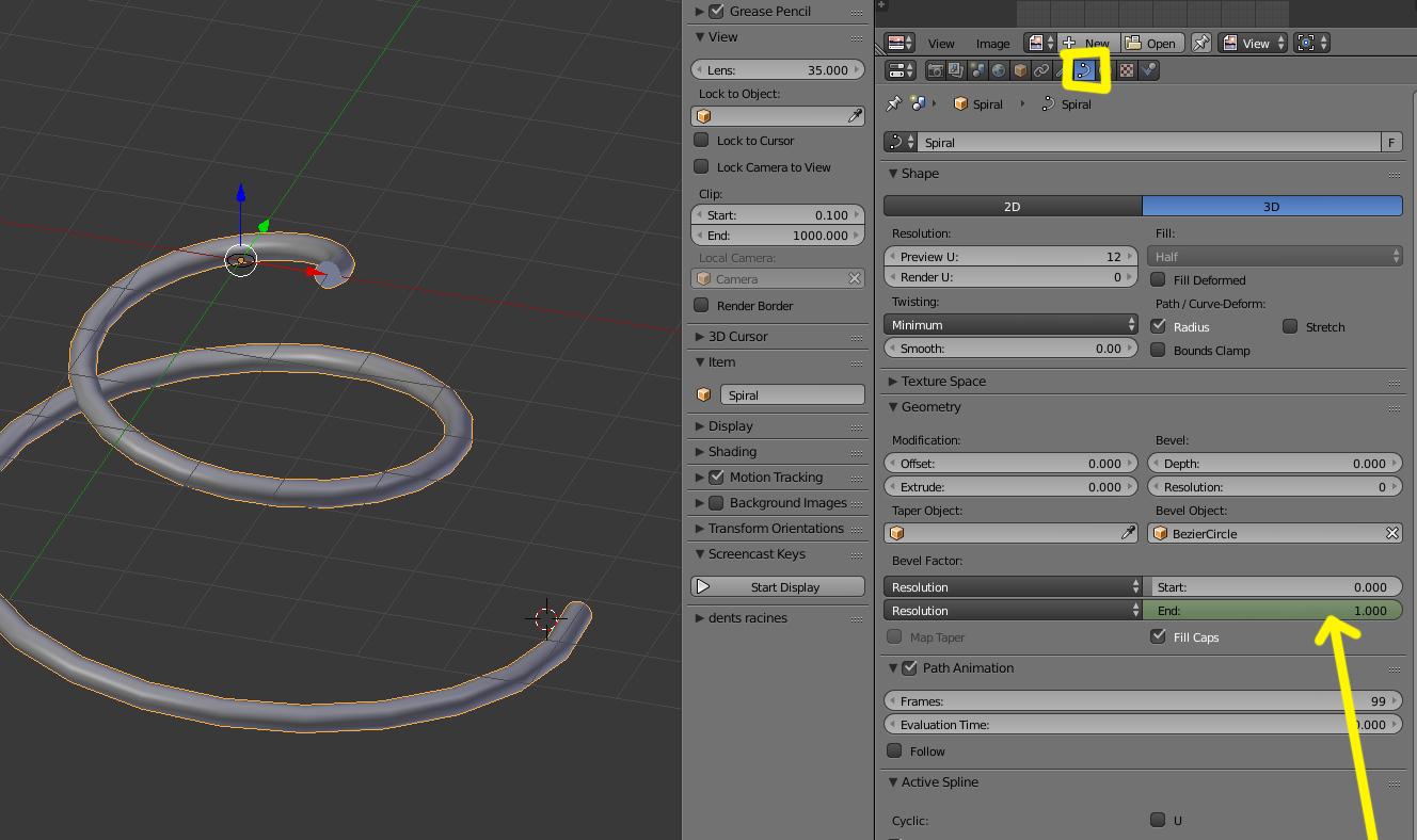 Como es posible animar parámetros add spiral en edit mode-spiral1.jpg