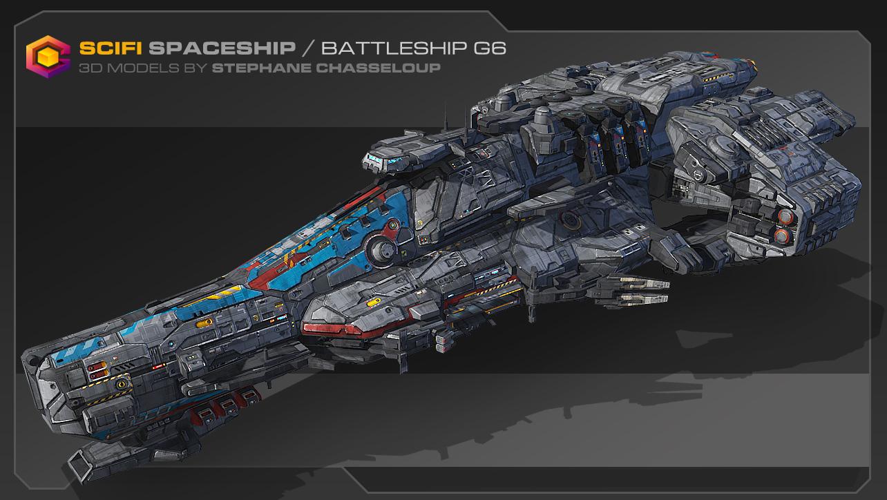 [3ds Max] Naves Espaciales Para Videojuegos