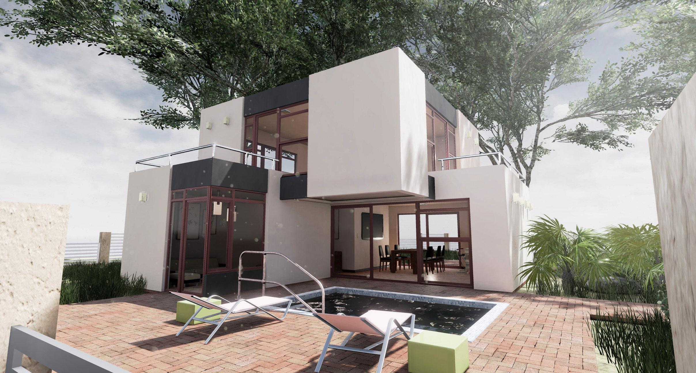 Casa minimalista blender ue4 for Casa minimalista 4 5x15