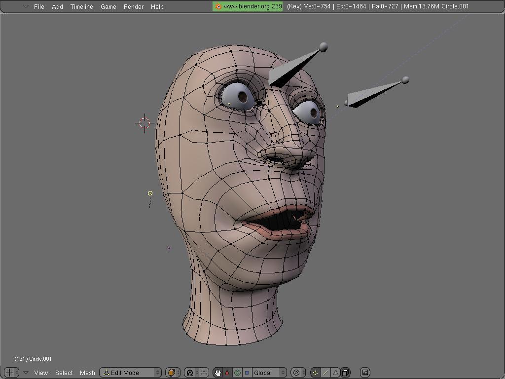 Cara y animación shape keys blender