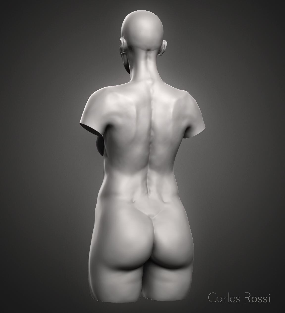 ZBrush] Práctica torso femenino