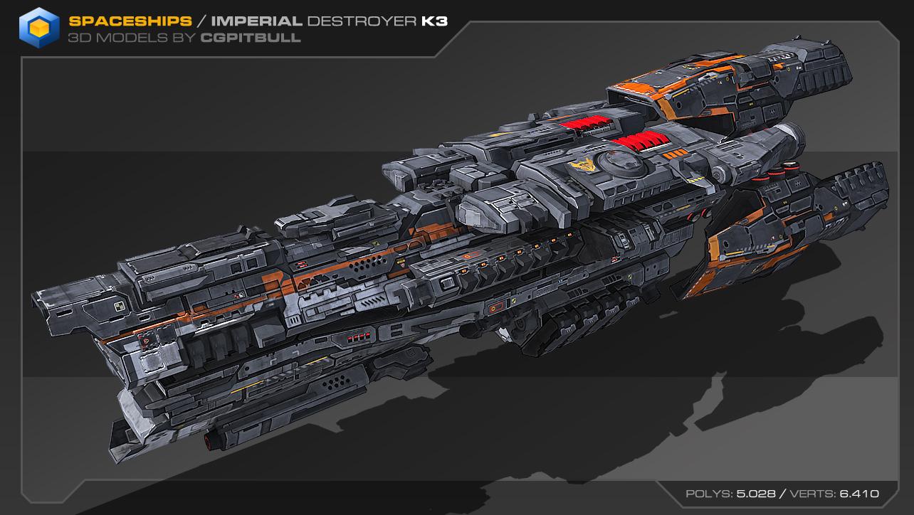 [3ds Max] Naves Espaciales Low-res