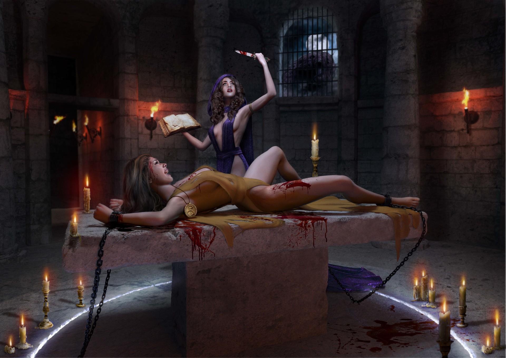 Trazos Gallery-estela-villas-plaza-lovecraft-scene-sacrifice-port.jpg